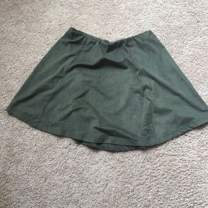 Olive mini skirt